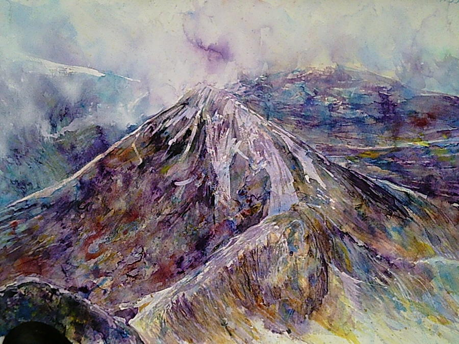 Watercolour Painting Painting - Central Highlands by Robert Hogg