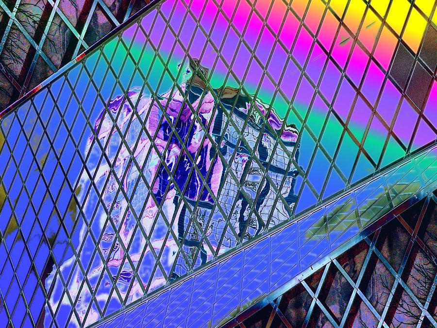 Seattle Digital Art - Central Library  Seattle 3 by Tim Allen
