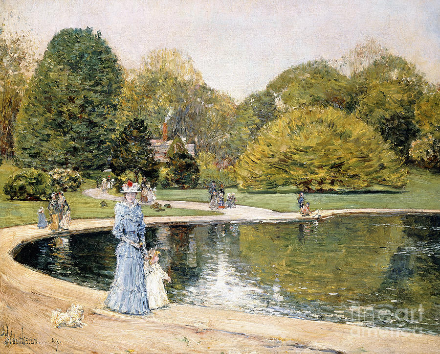 Childe Hassam Painting - Central Park by Childe Hassam