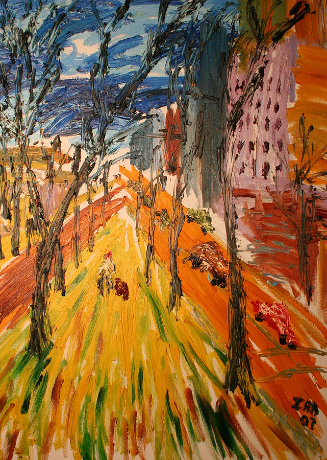 New York City Painting - Central Park East by Ira Stark