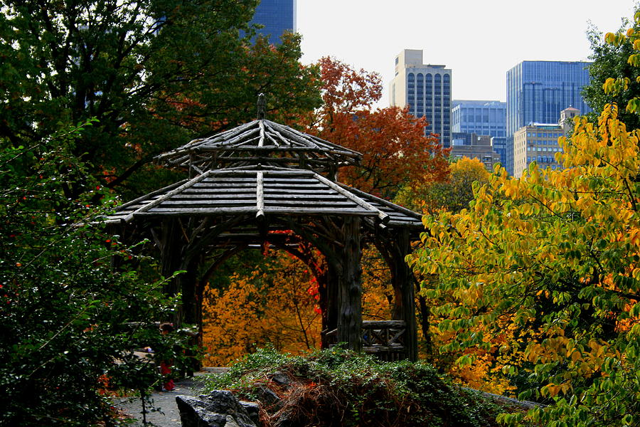 Gazebo Photograph - Central Park Gazebo by Christopher Kirby