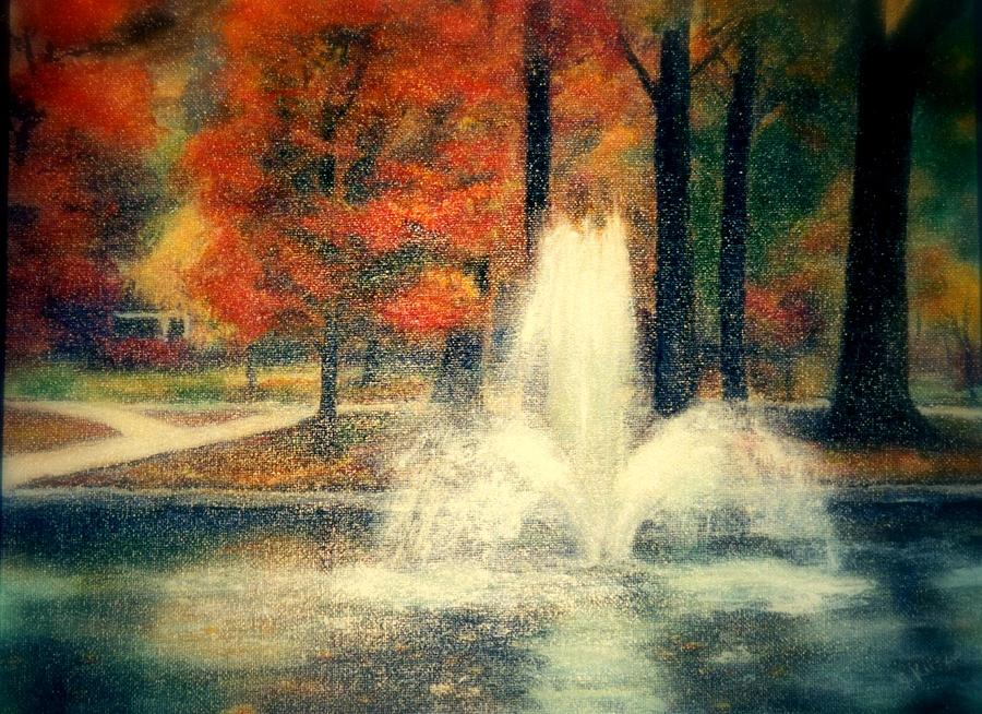 Pond Painting - Central Park In Autumn by Gail Kirtz