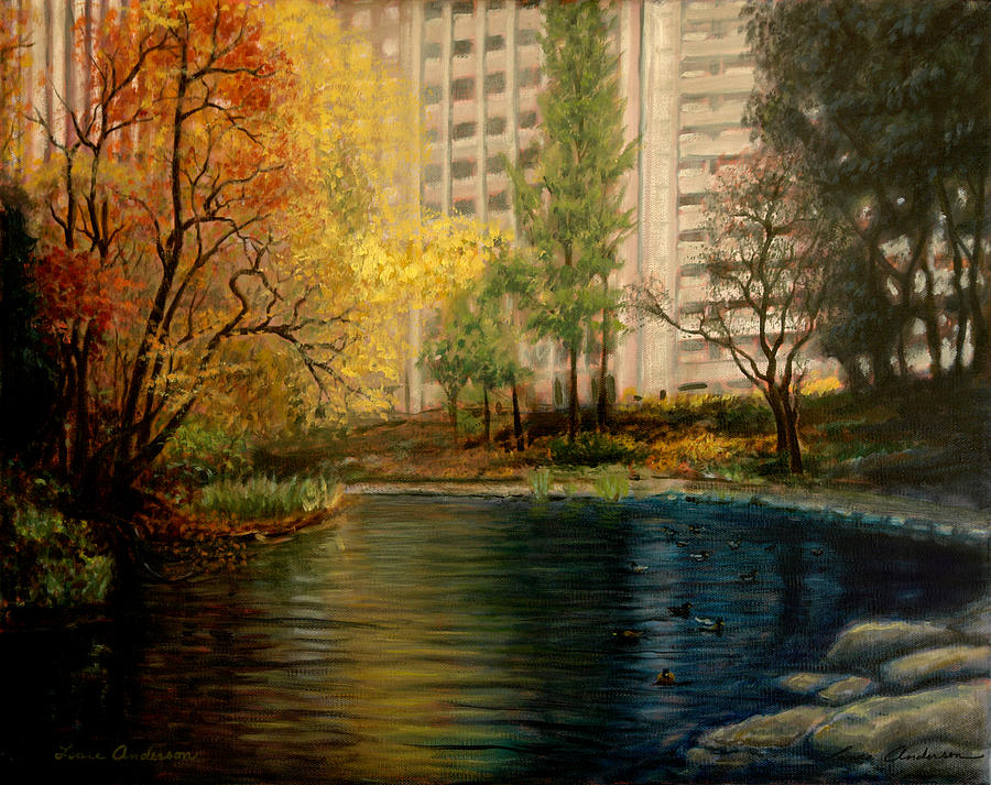 New York Painting - Central Park by Lance Anderson