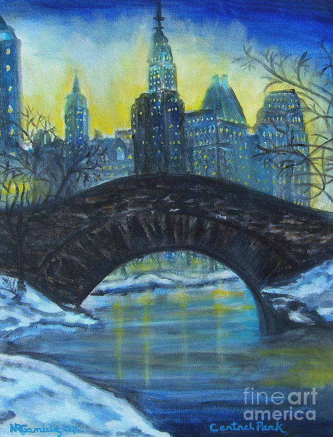 Impressionism Painting - Central Park by Nancy Rucker