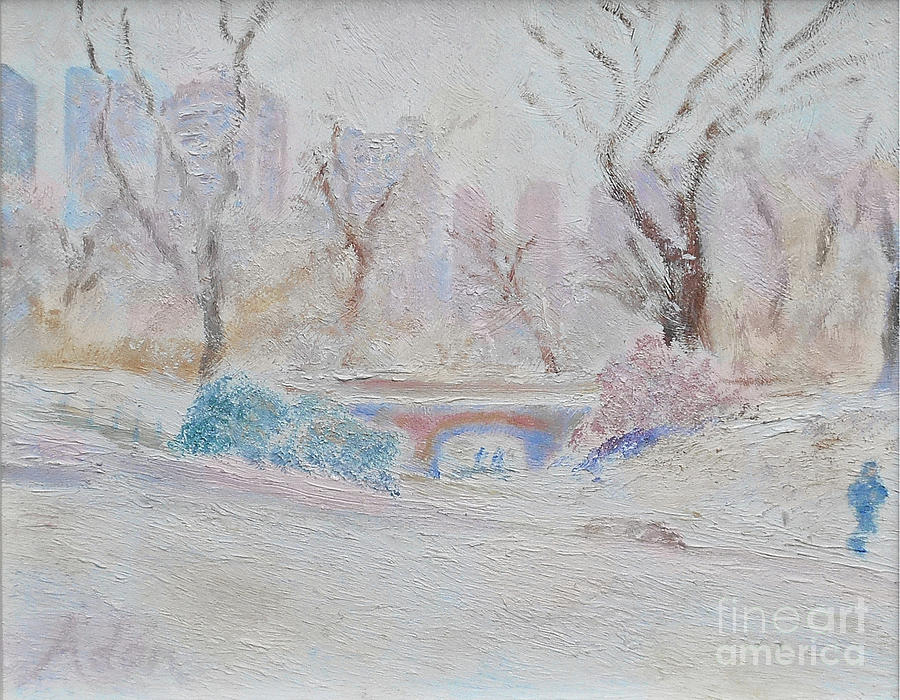 Central Park Painting - Central Park Record Early March Cold Circa 2007 by Felipe Adan Lerma
