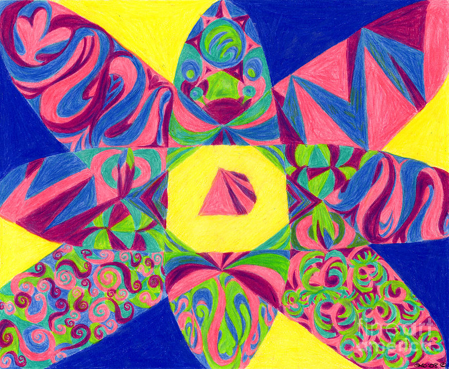 Abstract Drawing - Centrifugal by Kim Sy Ok