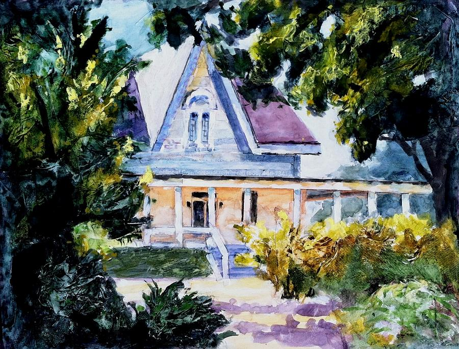 Landscape Painting - Century House Collage by John West