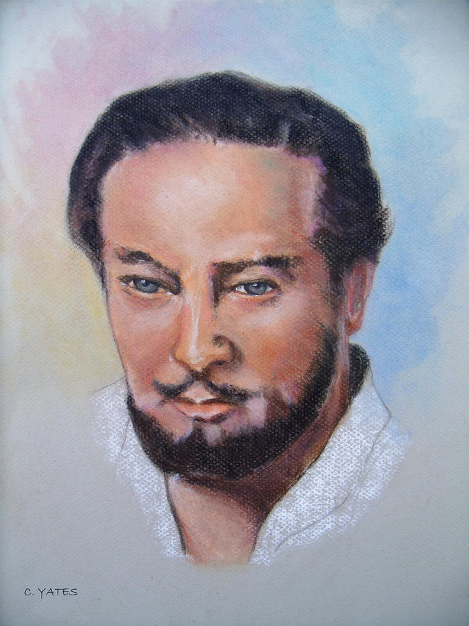 Drawing Pastel - Cephas by Charles Yates