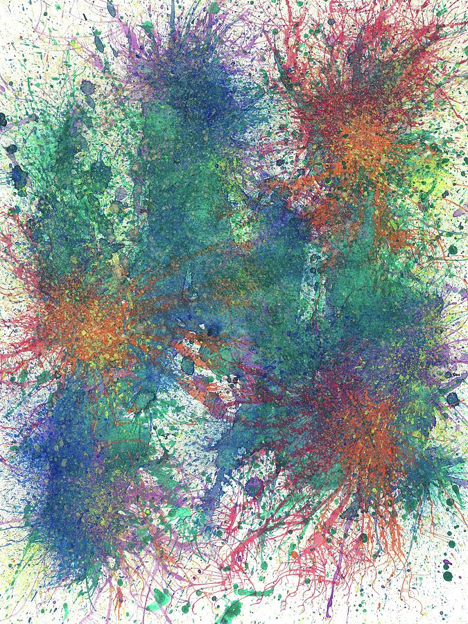 Abstract Painting - Cerebral Rhapsody During A Neurofeedback #581 by Rainbow Artist Orlando L