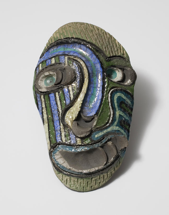 Clay Ceramic Art - Ceremonial Diety by Jason Galles