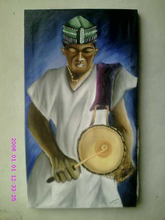 Ceremonial Drummer Painting by Olaoluwa Smith