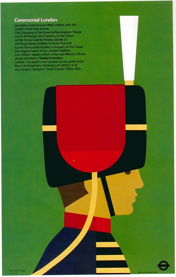 Ceremonial London - Royal Guard - The Queens Guard - London Underground - Retro Travel Poster Mixed Media