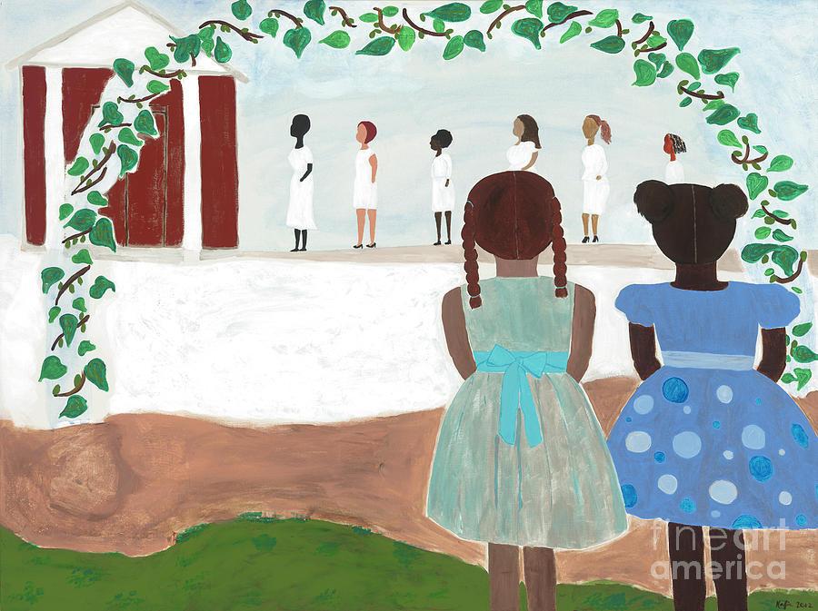 African American Painting - Ceremony In Sisterhood by Kafia Haile