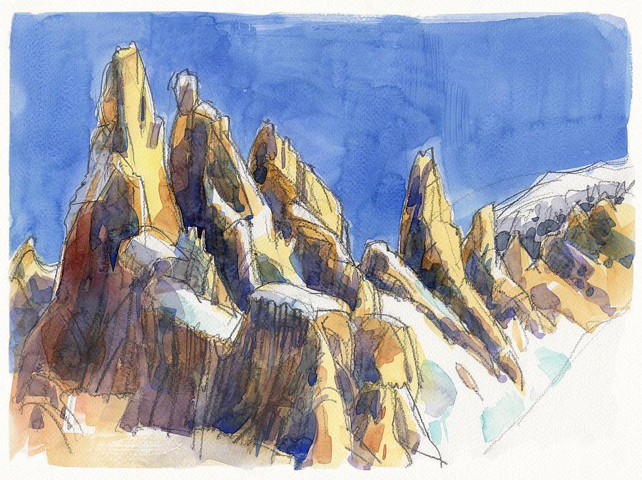 Landscape Painting - Cerro Torre, Patagonia by Judith Kunzle