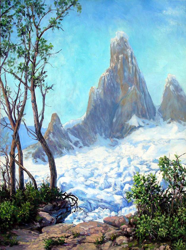 Cerro Torre Painting by Scott Robertson