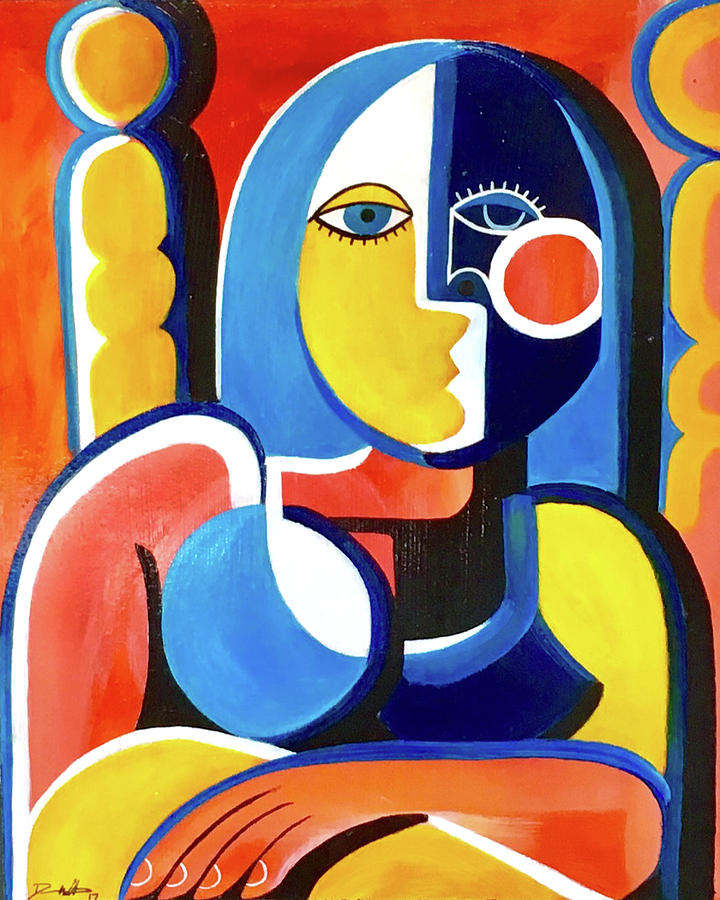 Cubist Painting - Certain by Dennis Wells