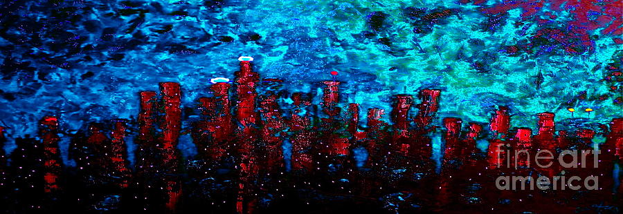 Cityscapes Painting - Cerulean Angel by Chris Haugen