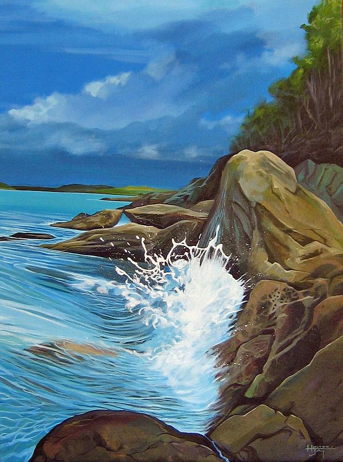 Ocean Painting - Cerulean by Hunter Jay
