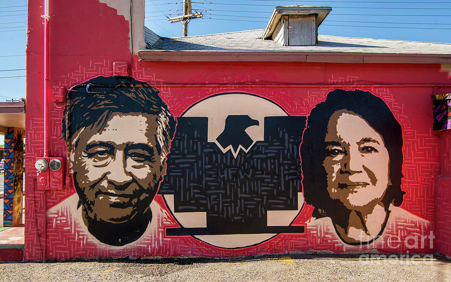Cesar chavez and dolores huerta mural utah photograph by for Cesar chavez mural