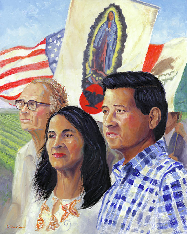 Cesar Chavez And La Causa Painting