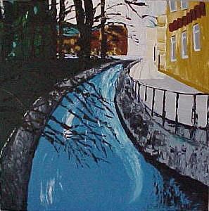 Ceske Budejovice Painting by Liz Konstantinov