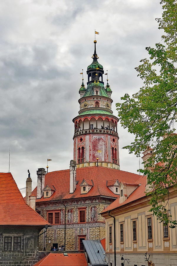 Tower Photograph - Cesky Krumlov Castle Tower In Cesky Krumlov Of The Czech Republic by Richard Rosenshein