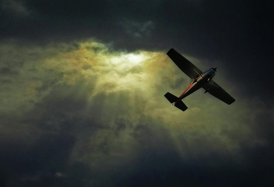 Horizontal Photograph - Cessna 172 Airplane by photograph by Anastasiya Fursova