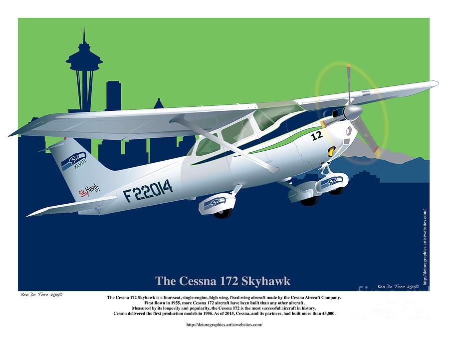 cessna skyhawk 172 by Kenneth De Tore