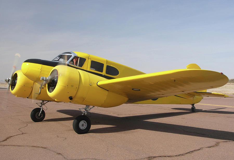 Airplane Photograph - Cessna T-50 Bobcat N59188 Casa Grande Airport Arizona March 5 2011 by Brian Lockett