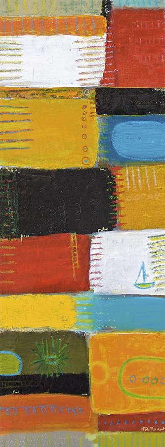 Abstract Painting - Cest La Vie 1 by Habib Ayat