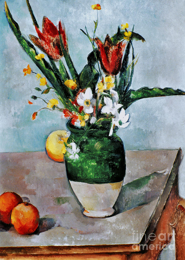 1892 Photograph - Cezanne: Tulips, 1890-92 by Granger