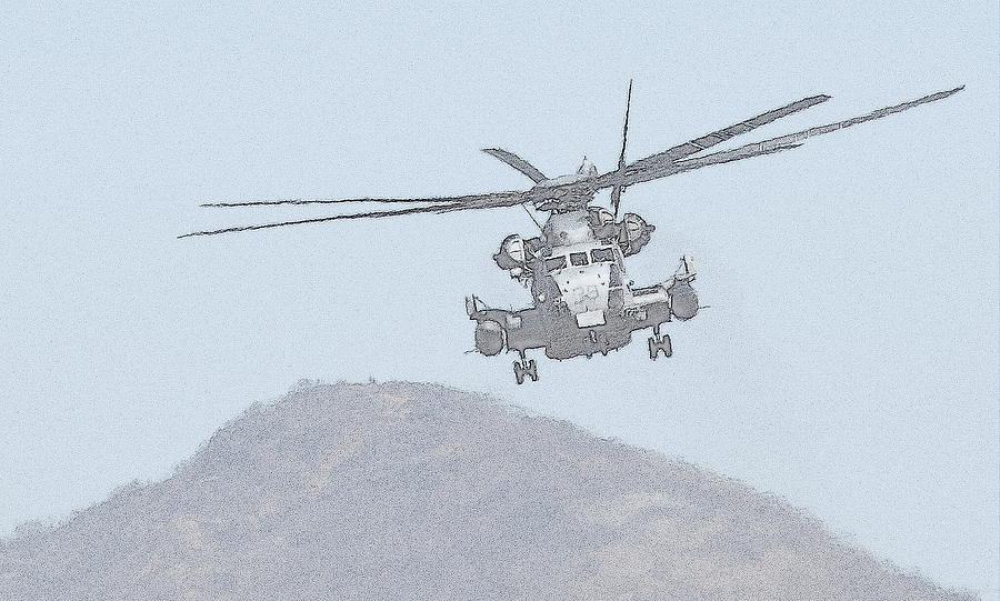 Ch-53 Over Camp Pendelton Photograph