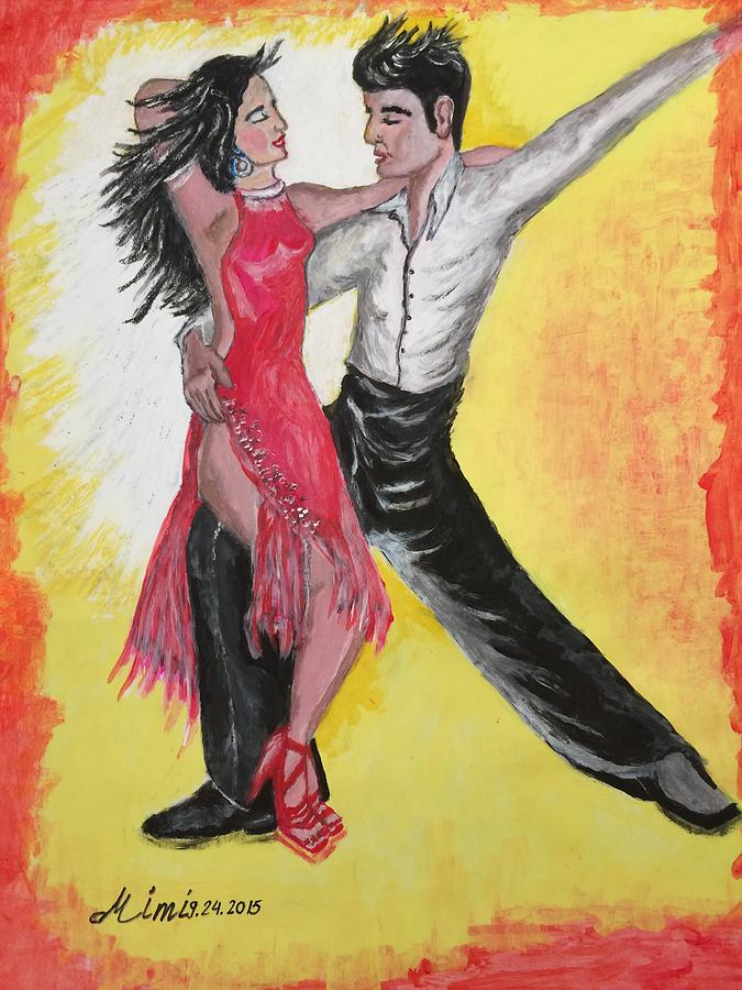 Dance Painting - Cha Cha by Mimi Eskenazi