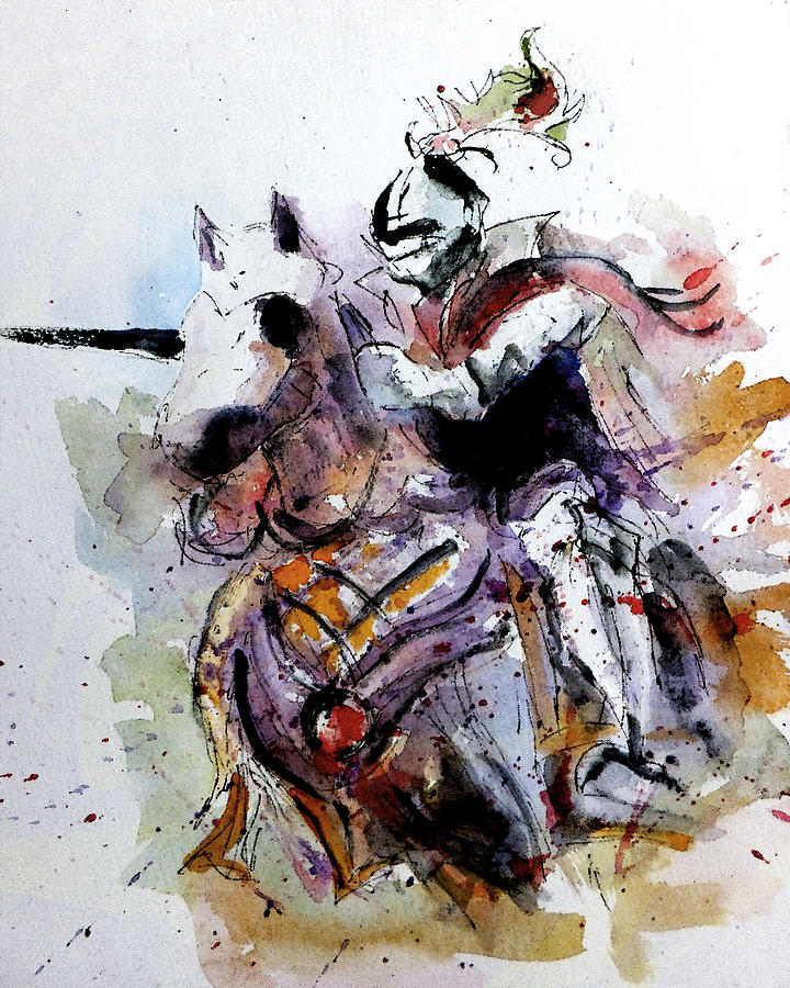 Horse Painting - Chaaarge by Steven Ponsford