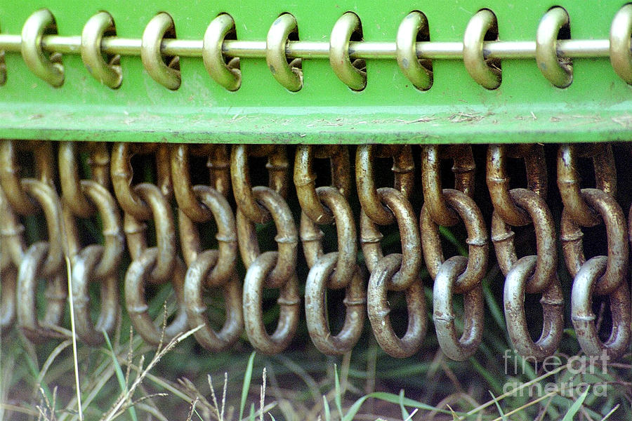 John Deere Photograph - Chain Guard by Linda Drown