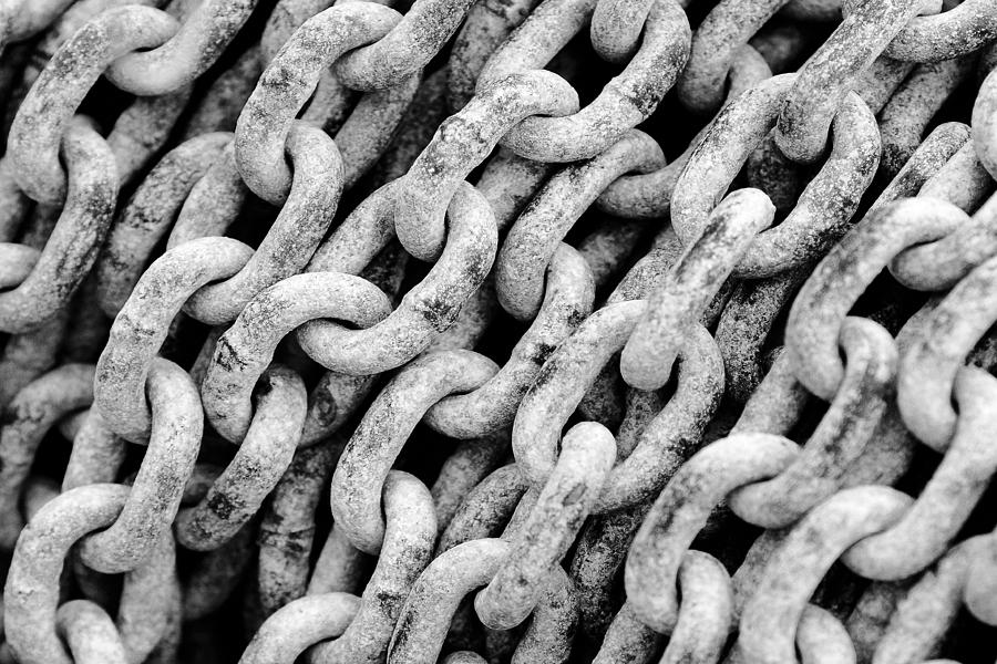 Chain Photograph - Chain Links by Todd Klassy
