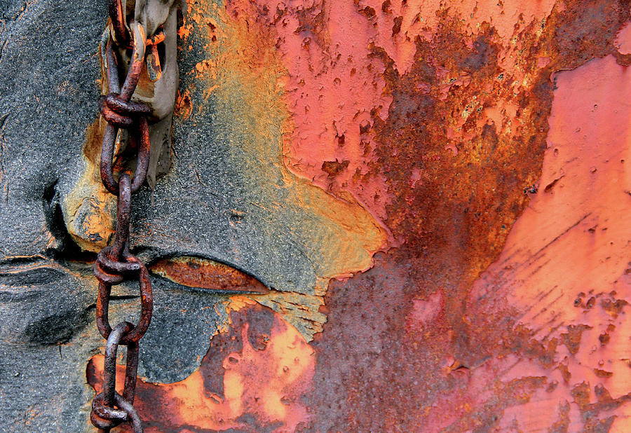 Rusted Chain Photograph - Chained by Doug Hockman Photography