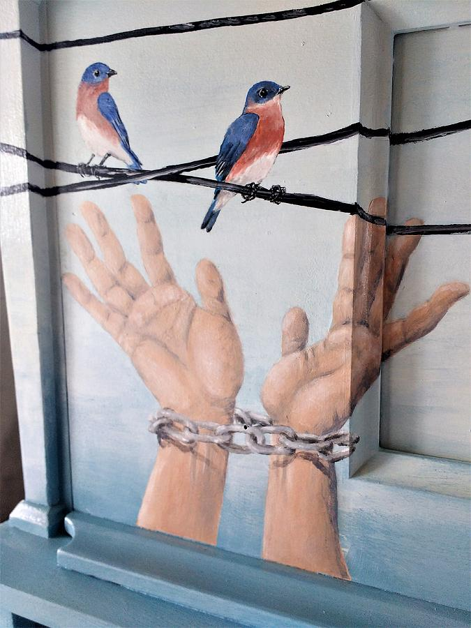 chained hands by Violet Jaffe