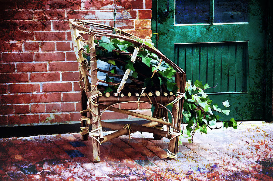 Chair Photograph - Chair And Ivy by Elaine Manley