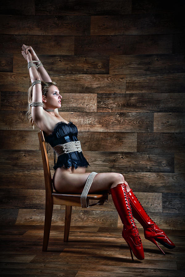 Bdsm Photograph - Chair Bondage - Fine Art Of Bondage by Rod Meier