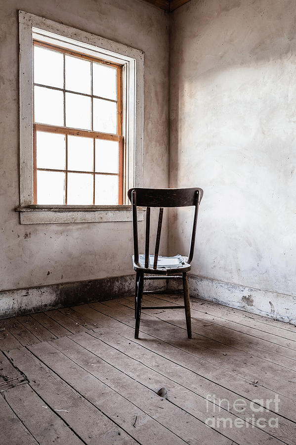 House Photograph - Chair By The Window Grafton Ghost Town by Edward Fielding