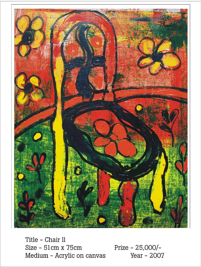Abstract Painting Painting - chair II by Phoolsingh Bairwa