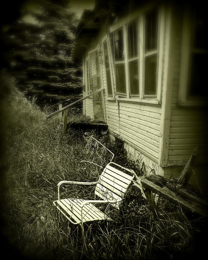 Chair Photograph - Chair In Grass by Perry Webster