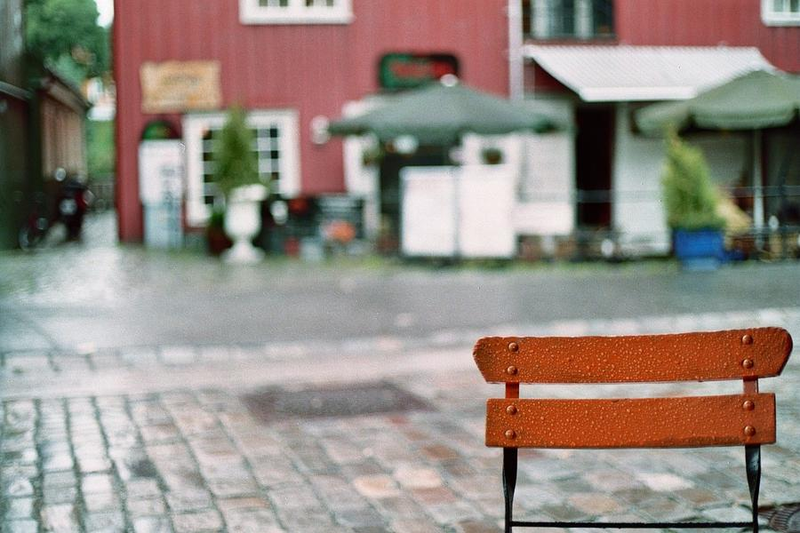 Norway Photograph - Chair In Trondheim by Gregory Barger