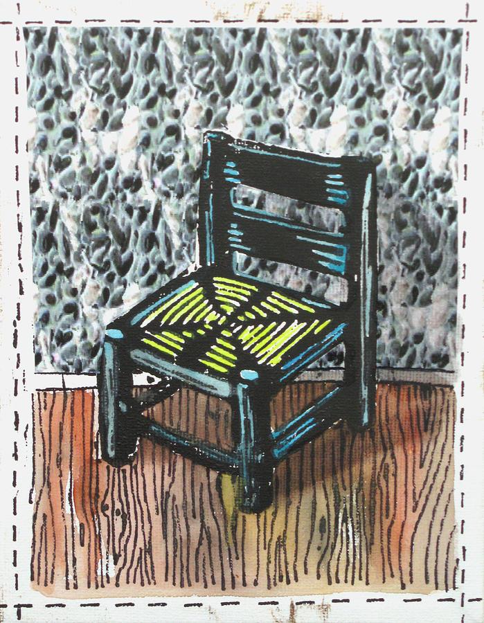 Chair Mixed Media - Chair Ix by Peter Allan