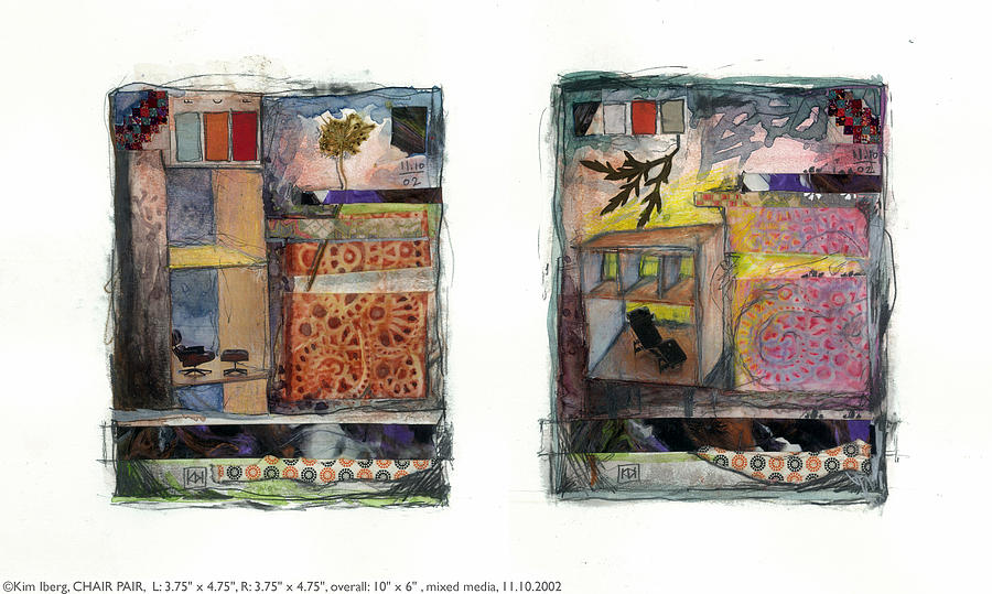 Drawing Painting - Chair Pair by Kim Iberg