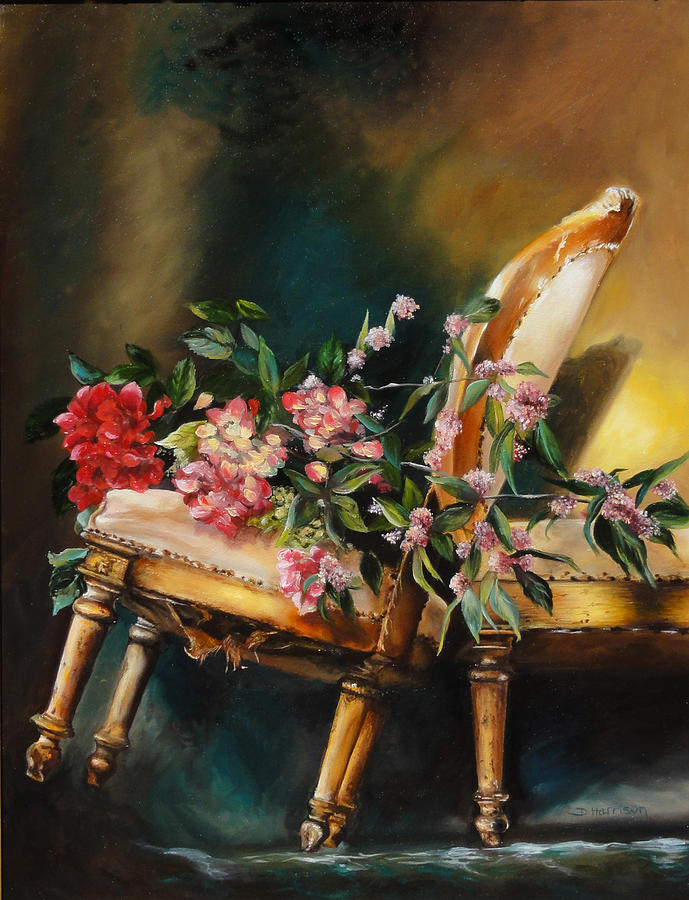 Flowers Painting - Chair Tilt by Denise H Cooperman