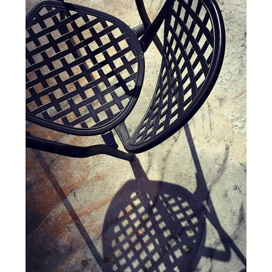 Chair Photograph - Chair With Long Shadow #juansilvaphotos by Juan Silva