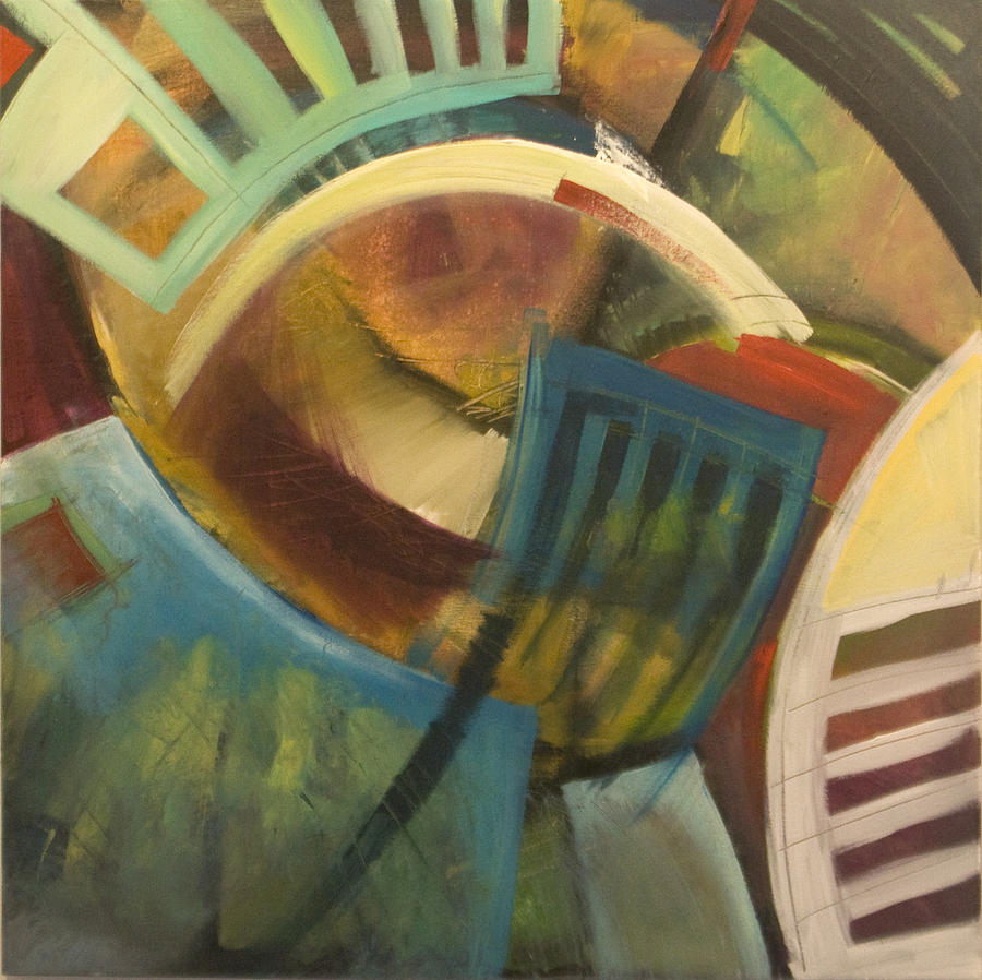 Chairs Painting - Chairs Around The Table by Tim Nyberg