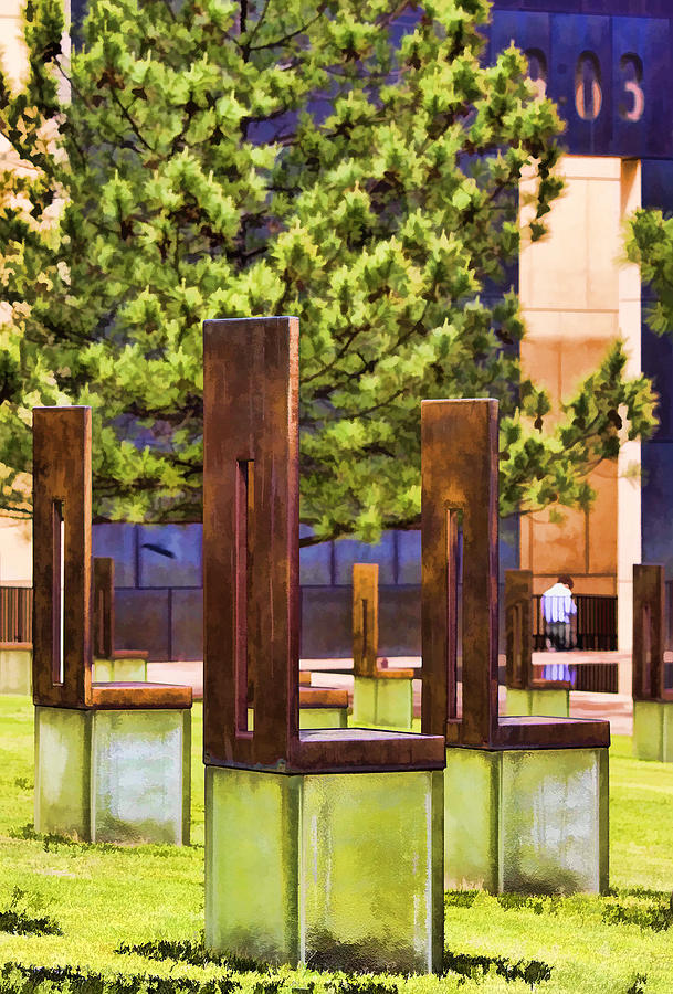 Oklahoma Photograph - Chairs At The Gate by Ricky Barnard